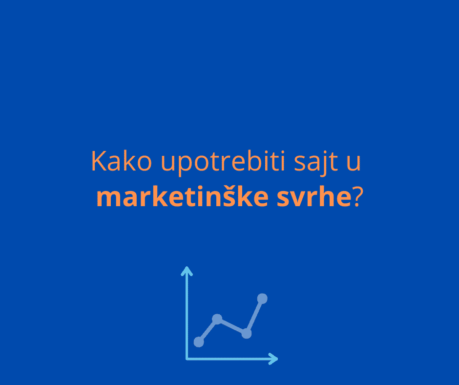 sajt u marketinške svrhe