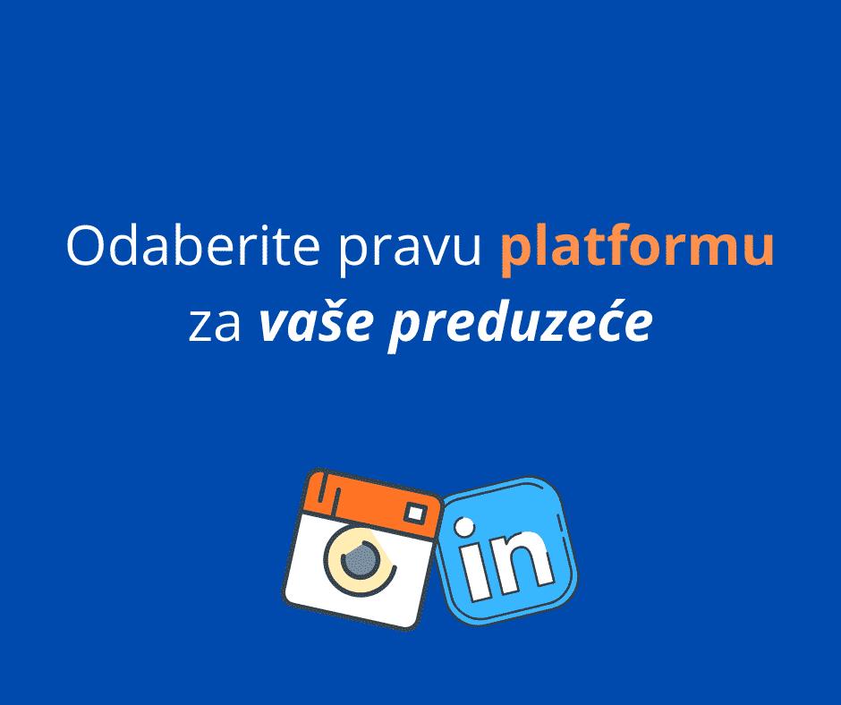 odaberite pravu platformu za vaše preduzeće
